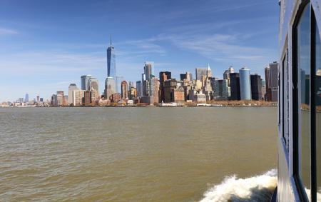 New York from ship Reklamní fotografie
