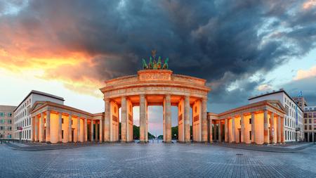 Berlin, brandenburg at sunrise, Germany