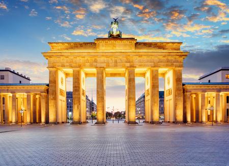 Berlin - Brandenburg Gate at night Banco de Imagens