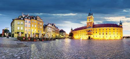 Panorama of Warsaw old town, Poland Zdjęcie Seryjne