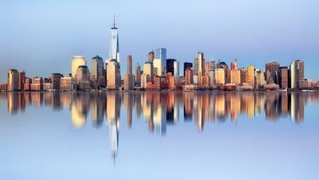 Manhattan skyline, New York City at night Reklamní fotografie