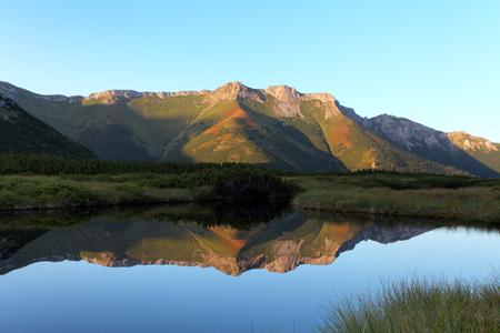 Belianske Tatras with Trojrohe lake in Slovakia Reklamní fotografie