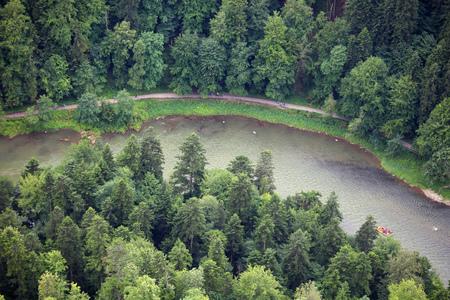 Dunajec river, aerial view from Sokolica Reklamní fotografie