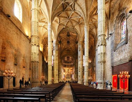 Lisbon, Portugal - February 18, 2017 : Monastery of Jeronimos Lisbon