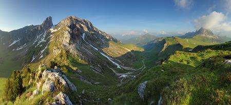 Mountain nature panorama in Dolomites Alps, Italy. Reklamní fotografie