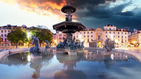 Lisboa - Rossio square, Portugal Reklamní fotografie