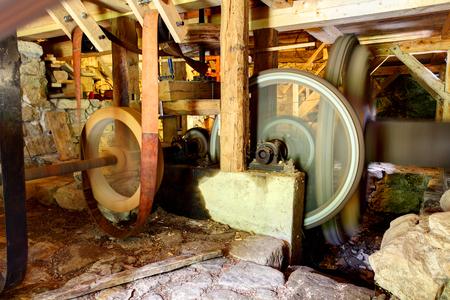 Interior of historic watermill Reklamní fotografie