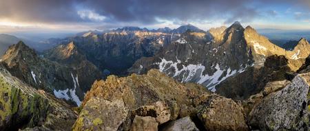 Mountain panorama from peak Rysy in High Tatras, Slovakia Reklamní fotografie