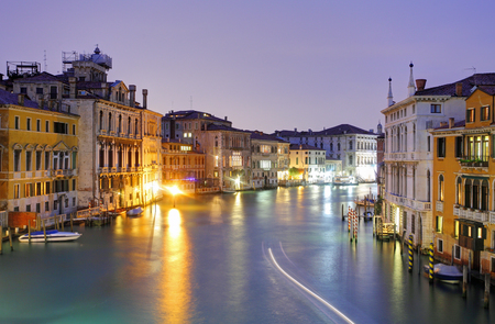 Venice from ponte Accademia at night