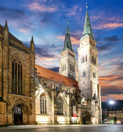 Nuremberg - St. Lawrence church at sunset, Germany Reklamní fotografie
