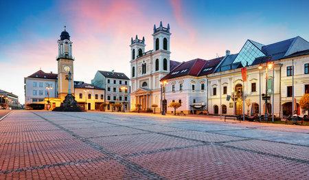 Slovakia, Banska Bystrica main SNP square Redakční