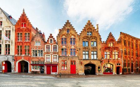 Bruges - View on Jan Van Eyck Square and church  in Brugge, Belgium