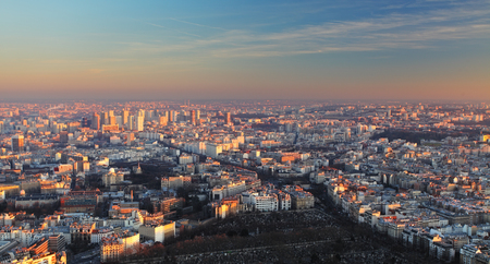 Paris city panorama - aerial view at sunset Stock fotó - 102136735
