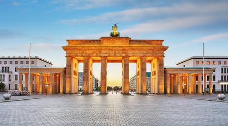 Branderburger Tor- Brandenburg Gate in Berlin, Germany Фото со стока