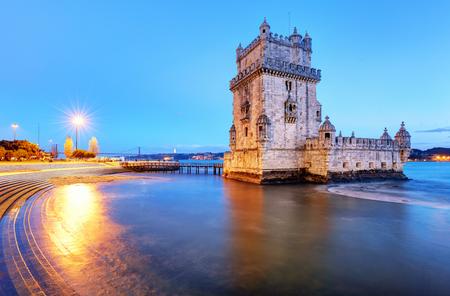 Belem tower, Lisbon - Portugal at night Reklamní fotografie