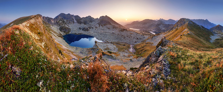 Mountain landcape panorama at summer with lake in Tatras, Poland Reklamní fotografie