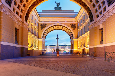 St. Petersburg, Russia - Winter Palace, house of the Hermitage Museum.