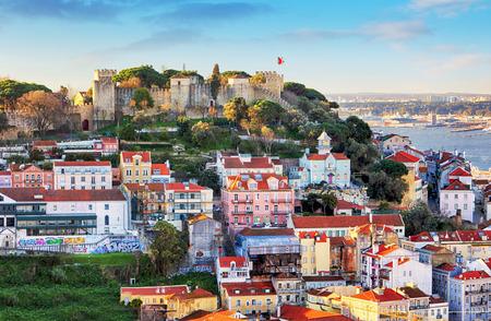 Castello di Sao Jorge a Lisbona, Portogallo