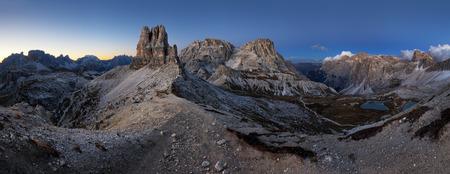 Night mountain landcape panorama range in Tre Cime di Lavaredo.Dolomites. Reklamní fotografie