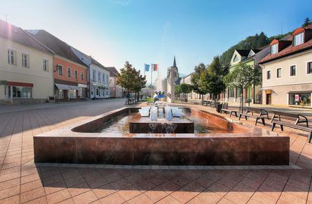 Slovakia Orava city, Square in Dolny Kubin Reklamní fotografie