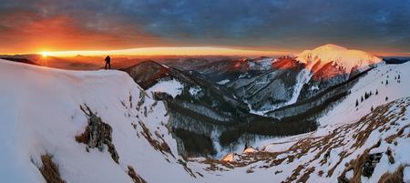 Nature Mountain peak at winter - Slovakia, panorama