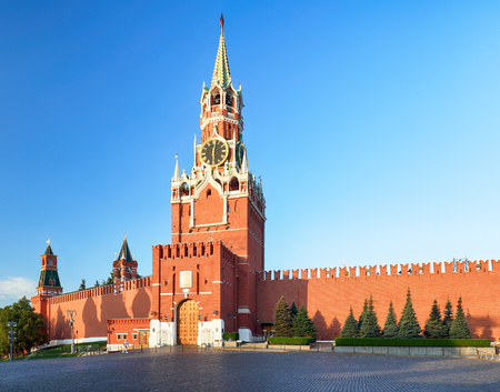 Kremlin wall with tower, Russia - Moscow red square Reklamní fotografie