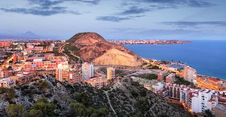 Alicante in Spain at night Reklamní fotografie