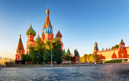 Moscow, St. Basils Cathedral in Red square, Russia