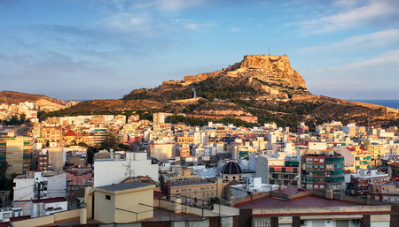 Alicante in Spain at sunset
