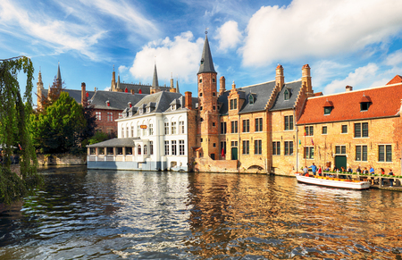 Bruges at day, Belgium historical city