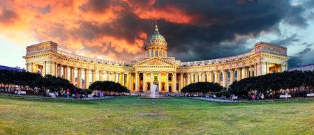 Russia - Saint Petersburg, Kazan cathedral at sunrise, nobody