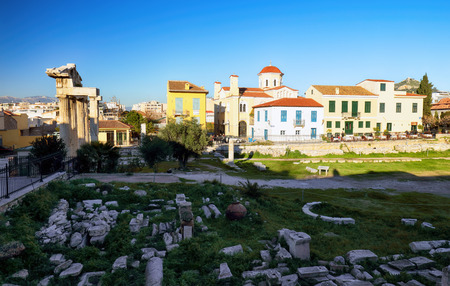 Ancient Roman Forum in Athens, Greece