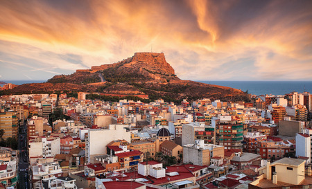 Alicante - Spain at sunset Stock Photo