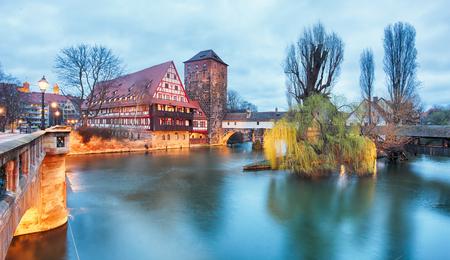 Nuremberg, Germany at twilight