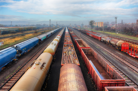 Railway station freight trains, Cargo transport