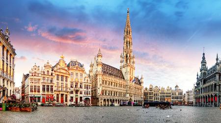 Brussel - Grote Markt, België Stockfoto