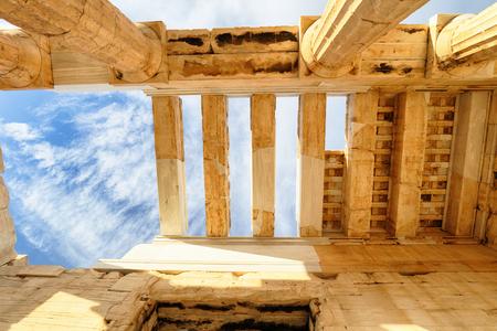 Temple of Athena Nike Propylaea Ancient Entrance Gateway Ruins Acropolis Athens