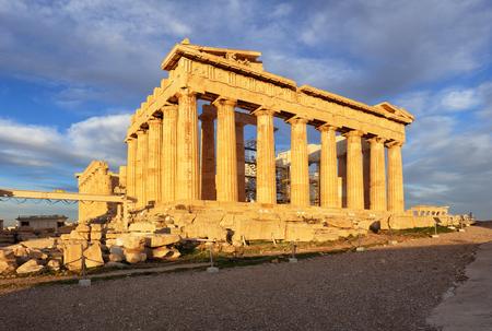 Parthenon on Acropolis, Athens, Greece. Nobody 写真素材