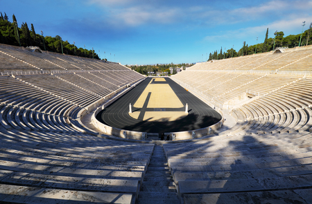 Athens - Panathenaic Stadium in a summer day Greece Imagens
