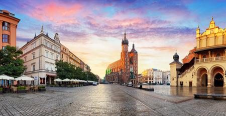 Krakow panorama at sunrise, Poland 写真素材