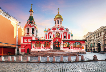 Moscow, Russia - Kazan cathedral on Red Square 写真素材