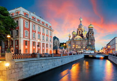 St. Petersburg - Church of the Saviour on Spilled Blood, Russia 写真素材
