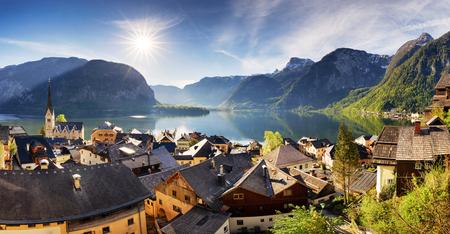 Hallstatt, Austria Alps village 写真素材