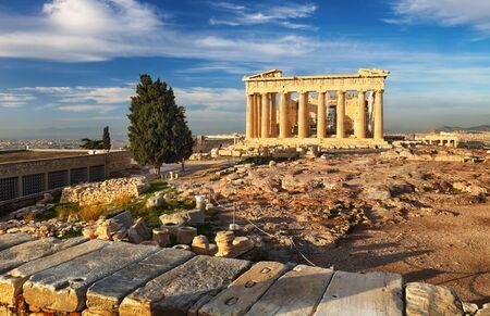 Athens - Parthenon on the Acropolis at sunrise in Greece