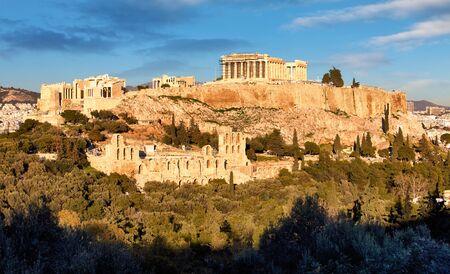 Athens - Acropolis at sunset, Greece
