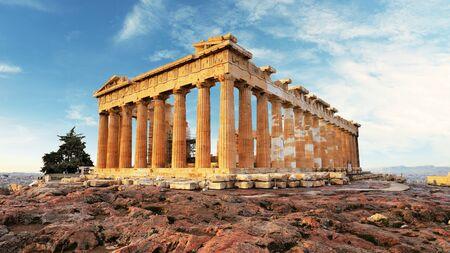 Partenón en la Acrópolis, Atenas, Grecia. Nadie