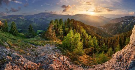 Low Tatra mountain summer landscape. meadow with huge stones among the grass. Zdjęcie Seryjne