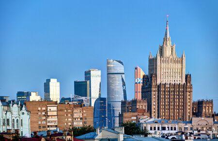 Moscow night skyline