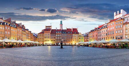 Market square in Warsaw, Poland Stok Fotoğraf