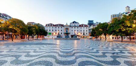 Lisbon, Rossio square, Portugal at night